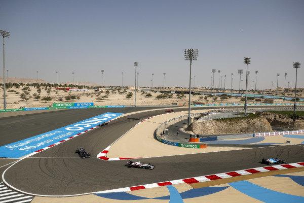 Esteban Ocon, Alpine A521, Antonio Giovinazzi, Alfa Romeo Racing C41, Yuki Tsunoda, AlphaTauri AT02 and Lance Stroll, Aston Martin AMR21