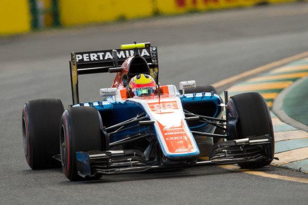 Rio Haryanto (IDN) Manor Racing MRT05 at Formula One World Championship, Rd1, Australian Grand Prix, Race, Albert Park, Melbourne, Australia, Sunday 20 March 2016.