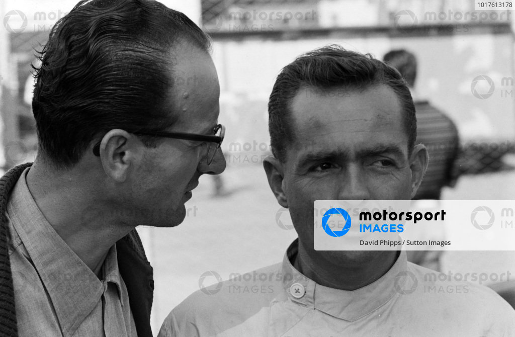 Phil Hill and Ferrari Team Manager Romolo Tavoni.