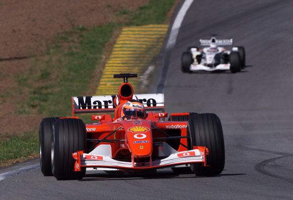2002 Brazilian Grand Prix - RaceInterlagos, Brazil. 31 March 2002Rubens Barrichello (Ferrari F2001).World Copyright: Pic Steve Etherington/LAT PhotographicRef: xxmb Digital Image Only