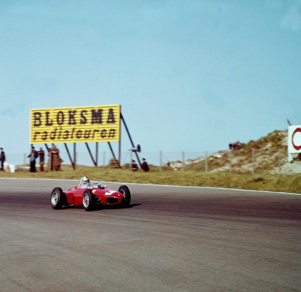 1961 Dutch Grand Prix.Zandvoort, Holland.20-22 May 1961.Wolfgang von Trips (Ferrari 156) 1st position.Ref-3/0272.World Copyright - LAT Photographic