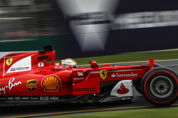 Sebastian Vettel (GER) Ferrari SF70-H at Formula One World Championship, Rd1, Australian Grand Prix, Practice, Albert Park, Melbourne, Australia, Friday 24 March 2017.