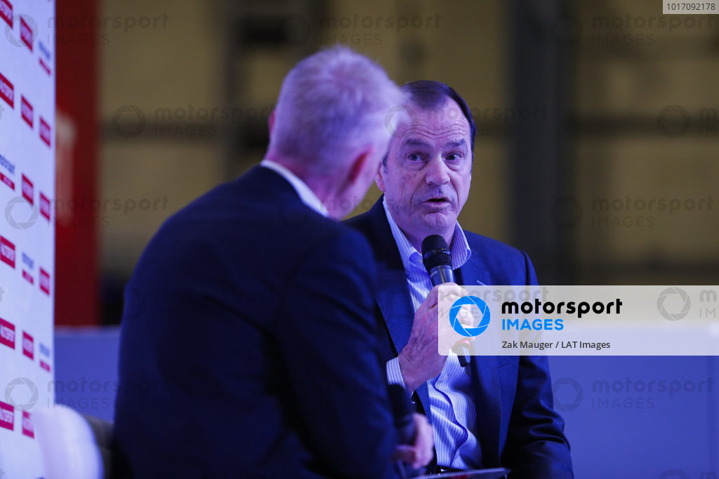 Alan Gow talks to Alan Gow on the Autosport Stage.