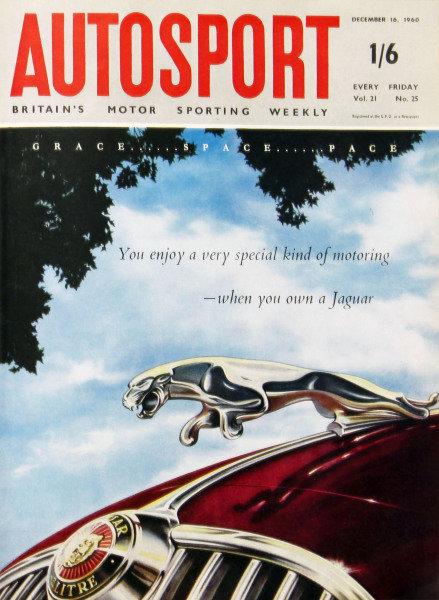 Cover of Autosport magazine, 16th December 1960