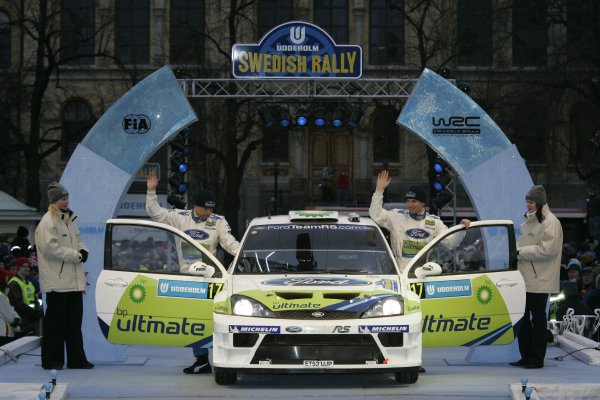 2005 FIA World Rally Championship Round 2, Swedish Rally. 10th - 13th February 2005. Roman Kresta and Jan Tomanek, (Ford Focus WRC), 8th position, action. World Copyright: McKlein/LAT Photographic. ref: Digital Image Only.
