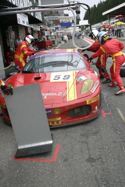 2006 FIA GT Championship.Spa - Francorchamps, France. 29th - 30th July.24 HoursMika Salo/Rui Aguas/Timo Scheider, (Ferrari 430 GT2). Action.World Copyright: Alastair Staley/LAT Photographic ref: Digital Image _F6E9135