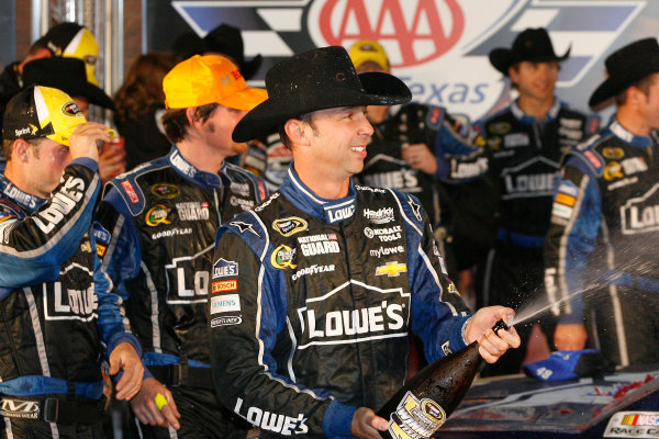 1-3 November, 2013, Fort Worth, Texas USA Chad Knaus celebrates in victory lane © 2013, Russell LaBounty LAT Photo USA
