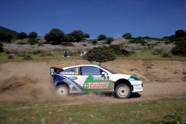 2005 World Rally Championship Rallye d'Italia, Sardinia, Italy. 29th April - 1st May 2005Toni Gardemeister (Ford Focus RS WRC 04), action.World Copyright: McKlein/LAT Photographic ref: Digital Image Only