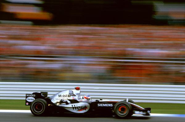 2005 German Grand Prix. Hockenheim, Germany 22nd - 24th July 2005 Kimi Raikkonen, McLaren Mercedes MP4-20. Action. World Copyright: Lorenzo Bellanca/LAT Photographic Ref: 35mm Image A04
