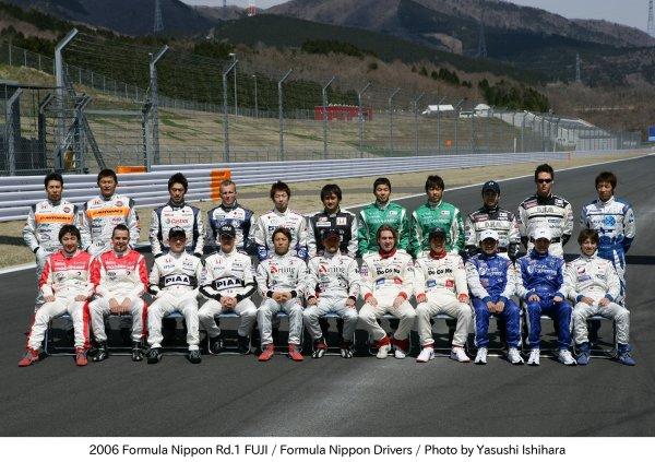 2006 Formula Nippon ChampionshipFuji Speedway. Fuji.2nd April 20062006 Formula Nippon Driver line - up.World Copyright: Yasushi Ishihara/LAT Photographicref: Digital Image Only.