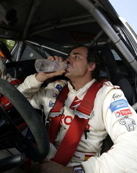 Carlos Sainz, Citroen Xsara WRC, Acropolis Rally 2003.Photo: McKlein/LAT