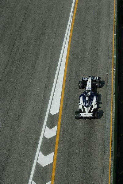 2003 San Marino Grand Prix - Friday 1st QualifyingImola, Italy. 18th April 2003Juan-Pablo Montoya, BMW Williams FW25, action.World Copyright: Steve Etherington/LAT Photographic ref: Digital Image Only