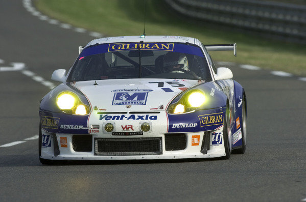 2004 Le Mans 24 HoursLe Mans France. 6th June 2004Khan/Neugarten/Smith (Thierry Perrier Porshe 911 GT3-RS) action.World Copyright: David Lister/LAT Photoghraphic ref: Digital Image Only/Hi res Raw available