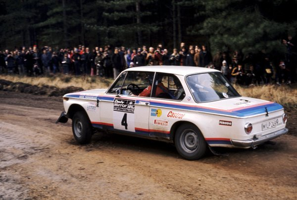 Bjorn Waldegaard (SWE) with co-driver Hans Thorszelius (SWE) 2.0 BMW 2002 Tii finished seventh.Lombard RAC Rally of Great Britain, 16-21 November 1973.