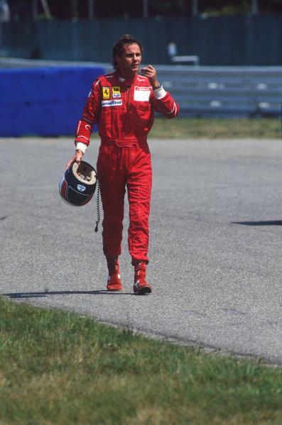 Hockenheim, Germany. 22nd - 24th July 1988. Gerhard Berger (Ferrari F187/88C), 3rd position, portrait.  World Copyright: LAT Photographic. Ref: 88GER04