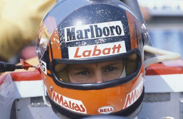 Silverstone, England. 12 - 14 July 1979.Gilles Villeneuve (Ferrari 312T4), retired, portrait. World Copyright: LAT PhotographicRef: 79GB02.