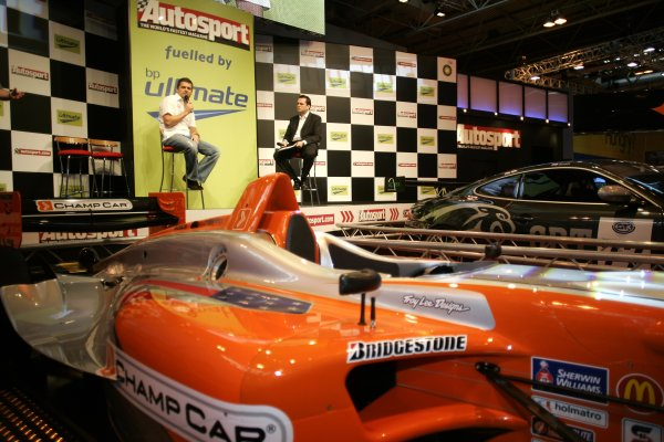 2007 Autosport International ShowNEC, Birmingham. 11th - 14th January 2007.Gil de Ferran on stage.World Copyright: Alastair Staley/LAT Photographicref: Digital Image _F6E1023