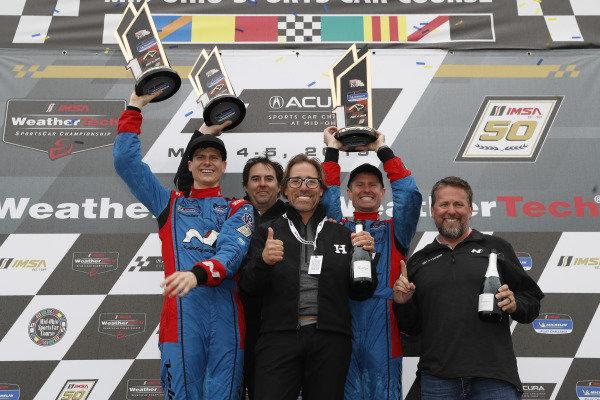 #98 Byan Herta Autosport W Curb-Agajanian Hyundai Veloster N TCR, TCR: Mark Wilkins, Michael Lewis, team, podium