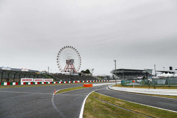 The Ferris Wheel and pit lane entrance