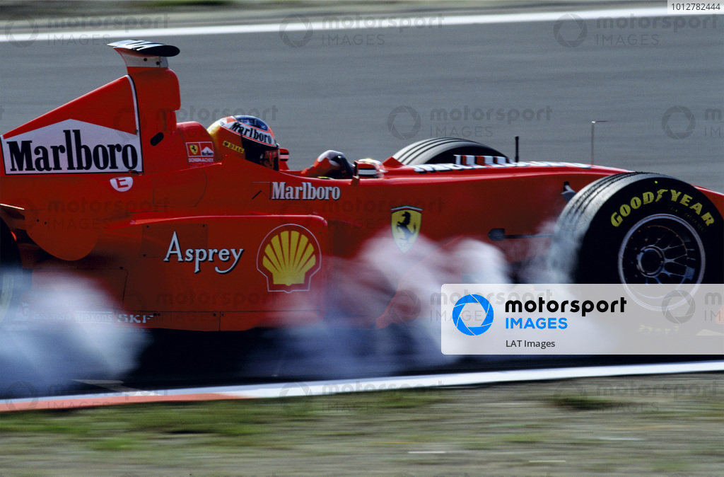 2003 Racing Past. . Exhibition1998 Luxembourg Grand Prix, Nurburgring. Michael Schumacher (Ferrari F300), 2nd position.World Copyright - LAT PhotographicExhibition ref: a078