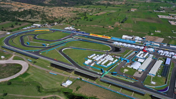 An aerial view of the Autodromo Miguel E. Abed, Puebla, Mexico