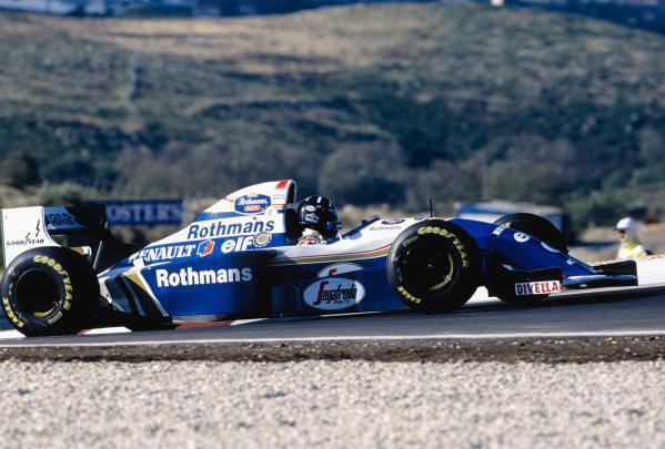 1994 Portuguese Grand Prix.Estoril, Portugal. 23-25 September 1994.Damon Hill (Williams FW16B Renault) 1st position.Ref-94 POR 15.World Copyright - LAT Photographic