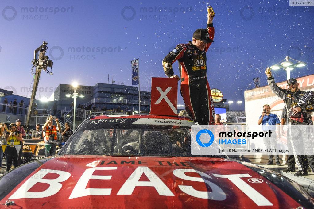 #2: Tyler Reddick, Richard Childress Racing, Chevrolet Camaro TAME the BEAST, celebrates after winning in Las Vegas.