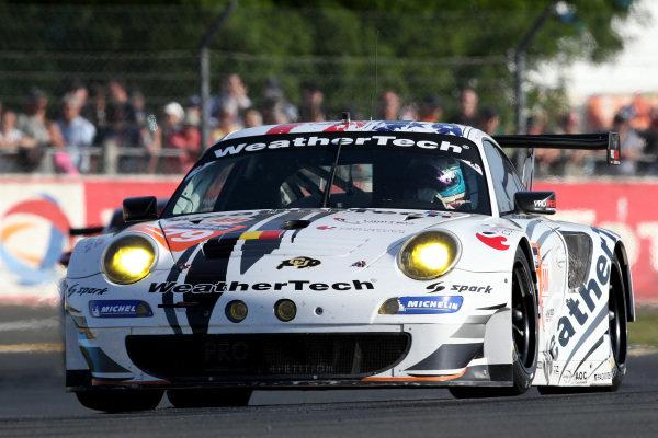Cooper MacNeil (USA) / Bret Curtis (USA) / Jeroen Bleekemolen (NED) ProSpeed Competition Porsche 911 GT3-RSR . Le Mans 24 Hours, Le Mans, France, 12-14 June 2014.