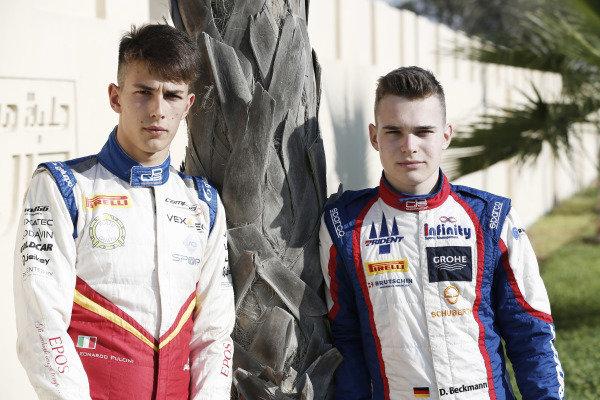 Leonardo Pulcini (ITA, Campos Racing) and David Beckmann (DEU, Jenzer Motorsport)