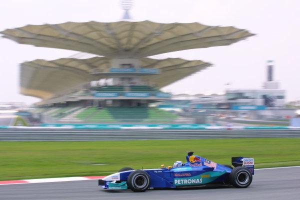 2001 Malaysian Grand Prix.Sepang, Kuala Lumpur, Malaysia.16-18 March 2001.Kimi Raikkonen (Sauber C20 Petronas).World Copyright - LAT PhotographicRef-8 9MB Digital