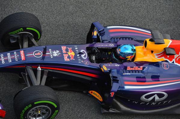 Sebastian Vettel (GER) Red Bull Racing RB10. Formula One Testing, Jerez, Spain, Day One, Tuesday 28 January 2014.