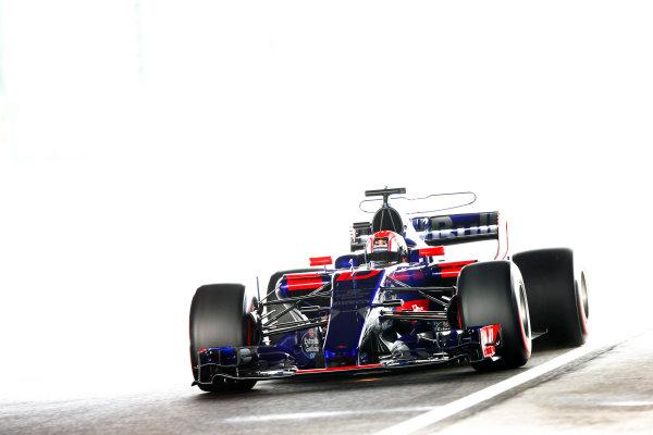 Suzuka Circuit, Japan. Saturday 07 October 2017. Pierre Gasly, Toro Rosso STR12 Renault. World Copyright: Andy Hone/LAT Images  ref: Digital Image _ONZ2731
