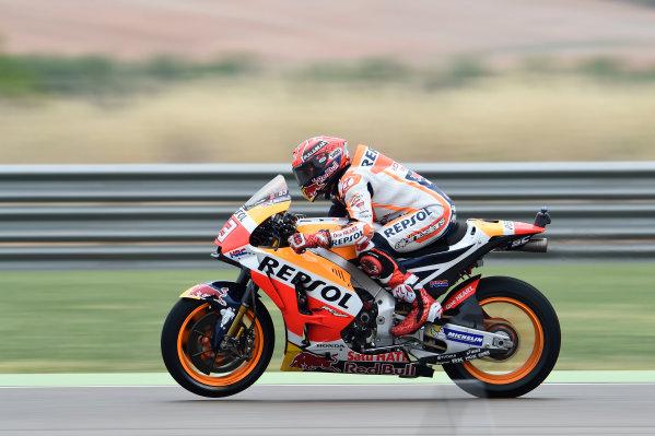 2017 MotoGP Championship - Round 14 Aragon, Spain. Friday 22 September 2017 Marc Marquez, Repsol Honda Team World Copyright: Gold and Goose / LAT Images ref: Digital Image 693685