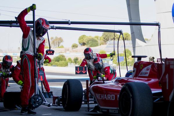2017 FIA Formula 2 Round 10. Circuito de Jerez, Jerez, Spain. Sunday 8 October 2017. Charles Leclerc (MCO, PREMA Racing).  Photo: Zak Mauger/FIA Formula 2. ref: Digital Image _X0W2793