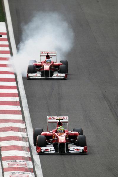 Felipe Massa (BRA) Ferrari 150 Italia.  Formula One World Championship, Rd 16, Korean Grand Prix, Race, Korea International Circuit, Yeongam, South Korea, Sunday 16 October 2011.   BEST IMAGE