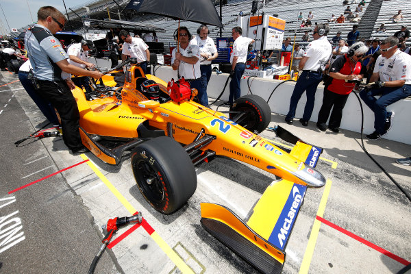 Verizon IndyCar Series Indianapolis 500 Practice Indianapolis Motor Speedway, Indianapolis, IN USA Monday 15 May 2017 Fernando Alonso, McLaren-Honda-Andretti Honda World Copyright: Michael L. Levitt LAT Images