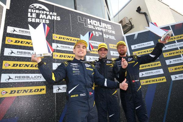 2017 European LeMans Series, Silverstone, 13th-15th April 2017, Salih Yoluc (TUR) / Euan Hankey (GBR) / Nicki Thiim (DNK) - TF SPORT - Aston Martin V8 Vantage World Copyright. JEP/LAT Images