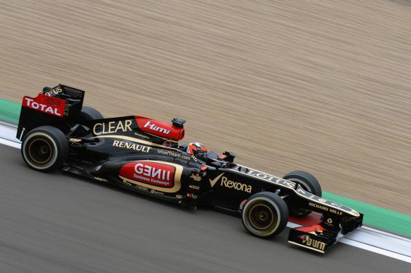 Kimi Raikkonen (FIN) Lotus E21. Formula One World Championship, Rd9, German Grand Prix, Practice, Nurburgring, Germany, Friday 5 July 2013.