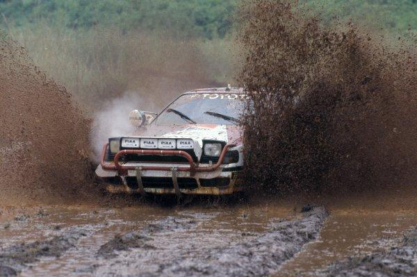 1990 World Rally Championship.Safari Rally, Kenya. 11-16 April 1990.Carlos Sainz/Luis Moya (Toyota Celica GT4), 4th position.World Copyright: LAT PhotographicRef: 35mm transparency 90RALLY08