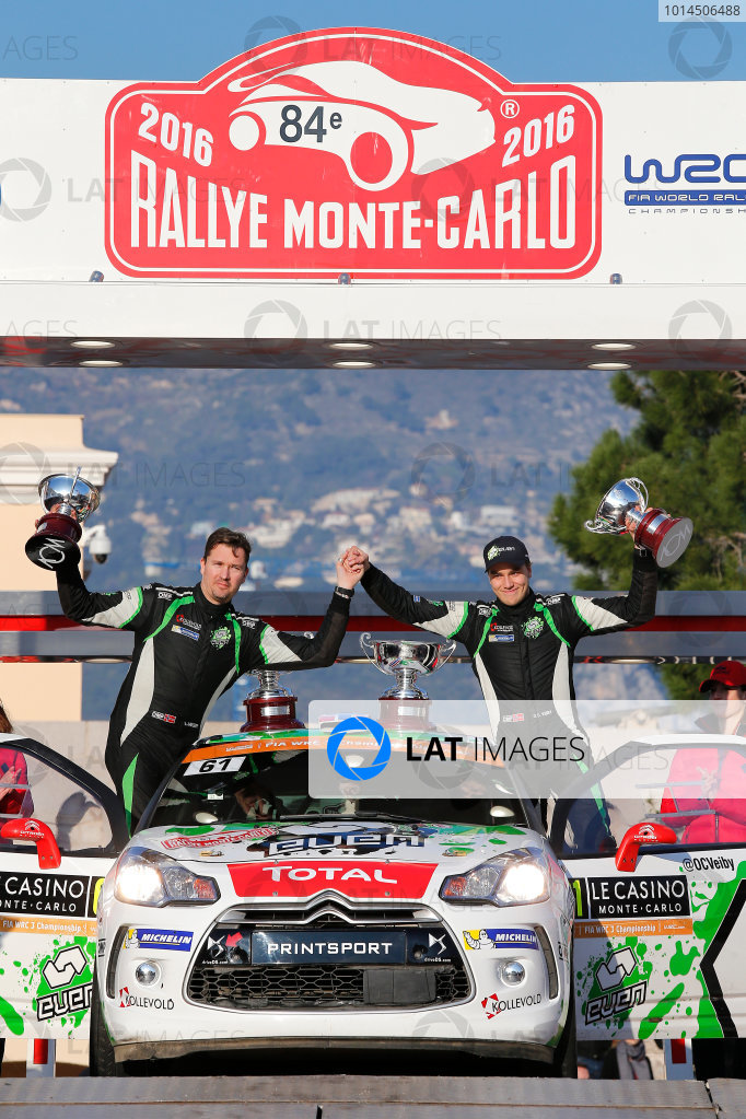 2016 World Rally Championship, Round 01, Rally Monte Carlo, 21st - 24th January, 2016 Ole-Christian Veiby, DS, winner WRC-3  Worldwide Copyright: McKlein/LAT