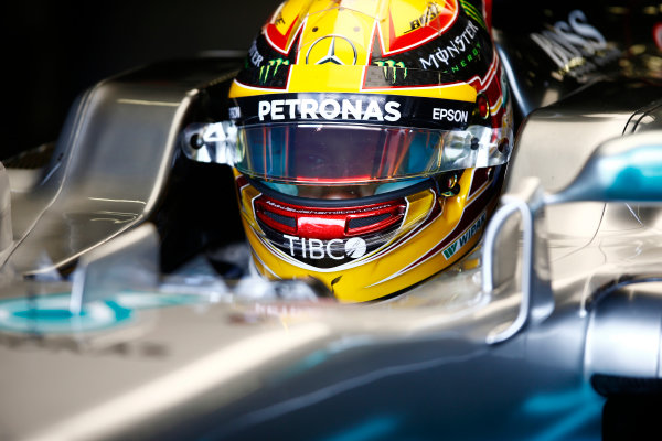 Red Bull Ring, Spielberg, Austria. Saturday 08 July 2017. Lewis Hamilton, Mercedes AMG, in cockpit with helmet visor open. World Copyright: Andy Hone/LAT Images ref: Digital Image _ONY0467