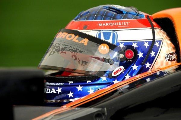 Danica Patrick (USA) Andretti Green Racing. IndyCar Series, Rd15, Peak Anti Freeze 300, Chicagoland Speedway, Joliet, Illinois, USA, 29-30 August 2009.