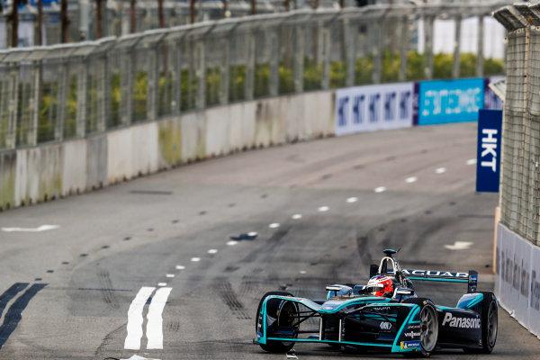 2017/2018 FIA Formula E Championship. Round 1 - Hong Kong, China. Saturday 02 December 2017. Mitch Evans (NZL), Panasonic Jaguar Racing, Jaguar I-Type II. Photo: Sam Bloxham/LAT/Formula E ref: Digital Image _J6I4065