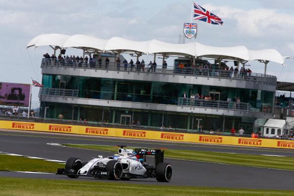 Silverstone, Northamptonshire, UK Friday 8 July 2016. Felipe Massa, Williams FW38 Mercedes. World Copyright: Hone/LAT Photographic ref: Digital Image _ONZ9659