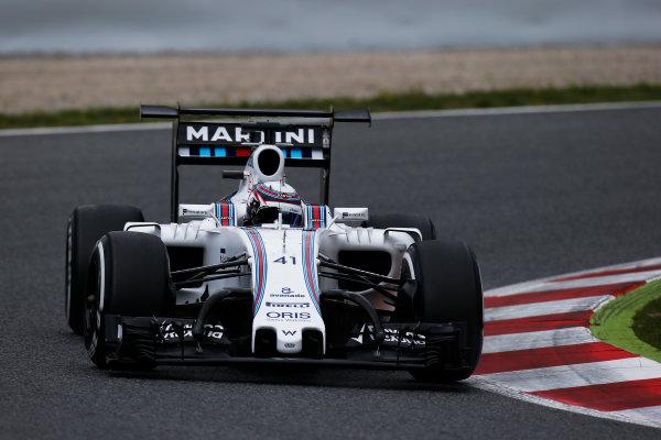 Circuit de Catalunya, Barcelona, Spain. Tuesday 17 May 2016. Alex Lynn, Williams FW38 Mercedes.  Photo: Sam Bloxham/LAT Photographic. ref: Digital Image _L4R1913