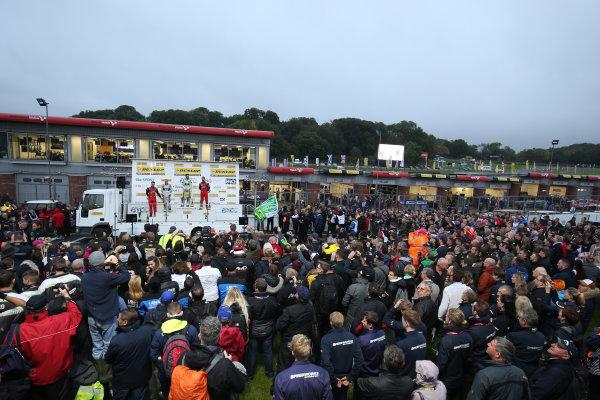 2017 British Touring Car Championship, Brands Hatch, Kent. 30th September - 1st October 2017, Podium  World copyright. JEP/LAT Images