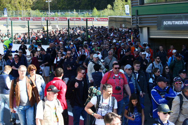 WEC Spa Francorchamps pit walk