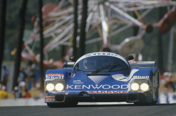 Le Mans, France. 16th -17th  June 1984.Alan Jones/Vern Schuppan/Jean-Pierre Jarier (Porsche 956), 6th position, action. World Copyright: LAT Photographic.Ref:  84LM03.