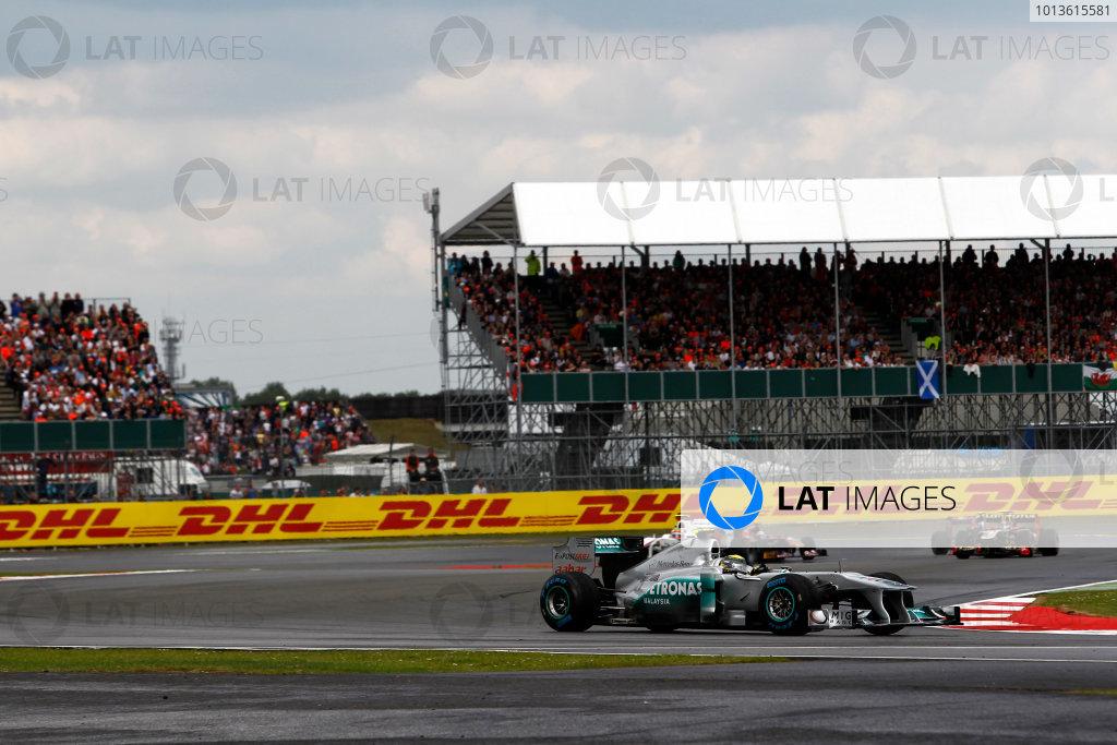 Silverstone, Northamptonshire, England10th July 2011Nico Rosberg, Mercedes GP W02, 6th position. Action. World Copyright:Andrew Ferraro/LAT Photographicref: Digital Image _Q0C9923