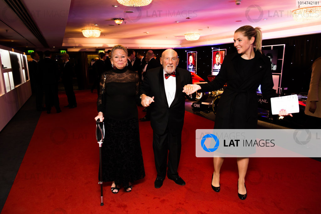 2016 Autosport Awards. Grosvenor House Hotel, Park Lane, London. Sunday 4 December 2016. Lady Susie and Sir Stirling Moss.  World Copyright: /LAT Photographic. ref: Digital Image 580A6100